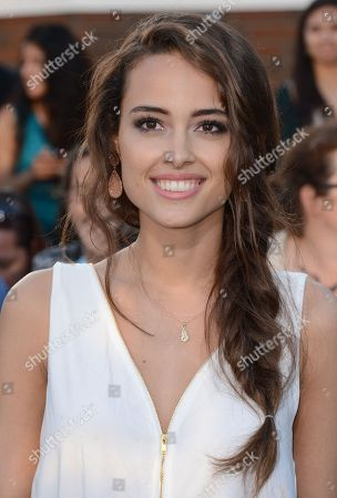 """Chelsea Gilligan arrives at the world premiere of """"Divergent"""" at the Westwood Regency Village Theater, in Los Angeles"""
