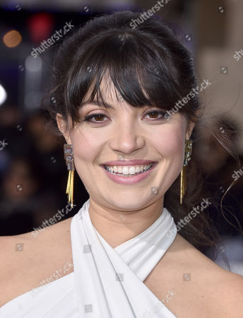 """Veronica Osorio arrives at the world premiere of """"Hail, Caesar!"""" at the Regency Village Theatre, in Los Angeles"""