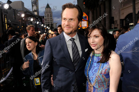 "Stock Image of Bill Paxton, left, and Louise Newbury arrive at the world premiere of ""Million Dollar Arm"" at El Capitan Theatre, in Los Angeles"