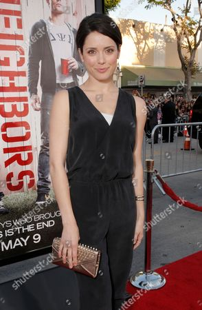 """Ali Cobrin arrives at the world premiere of """"Neighbors"""" at the Regency Village Theatre, in Los Angeles"""