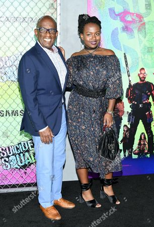 """Stock Image of Al Roker and daughter Leila Roker attend the world premiere of """"Suicide Squad"""" at the Beacon Theatre, in New York"""