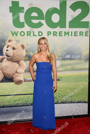 Jessica Barth attends the world premiere of 'Ted 2' at the Ziegfeld Theatre, in New York