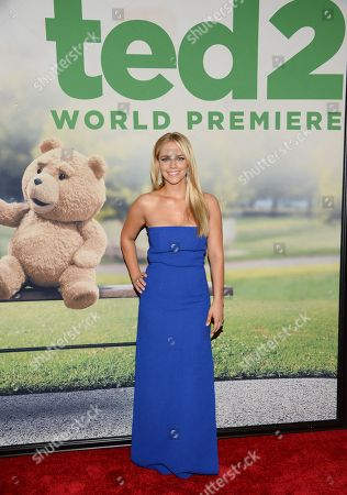 """Jessica Barth attends the world premiere of """"Ted 2"""" at the Ziegfeld Theatre, in New York"""