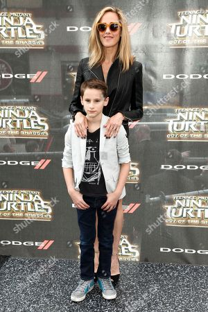 "Kim Raver and Leo Kipling Boyer attend the world premiere of ""Teenage Mutant Ninja Turtles: Out of the Shadows"" at Madison Square Garden, in New York"