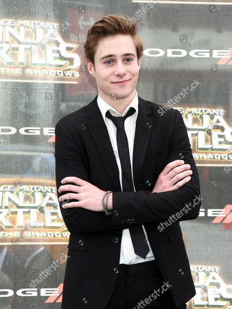 """Callan Potter attends the world premiere of """"Teenage Mutant Ninja Turtles: Out of the Shadows"""" at Madison Square Garden, in New York"""