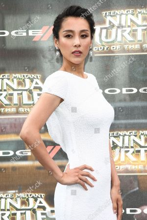"""Jane Wu attends the world premiere of """"Teenage Mutant Ninja Turtles: Out of the Shadows"""" at Madison Square Garden, in New York"""
