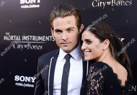 """Stock Image of Actor Kevin Zegers, left, and his wife, actress Jaime Feld arrive at the world premiere of """"The Mortal Instruments: City of Bones"""" at the ArcLight Cinerama Dome on in Los Angeles"""
