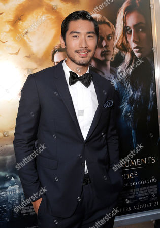 "Godfrey Gao arrives on the red carpet at the world premiere of ""The Mortal Instruments: City of Bones"" at the ArcLight Cinerama Dome on in Los Angeles"