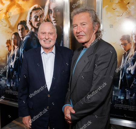 "Executive Producer Michael Lynne and Executive Producer Bob Shaye arrive on the red carpet at the world premiere of ""The Mortal Instruments: City of Bones"" at the ArcLight Cinerama Dome on in Los Angeles"