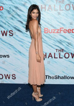"""Model Juliana Herz attends the world premiere of """"The Shallows"""" at AMC Loews Lincoln Square, in New York"""