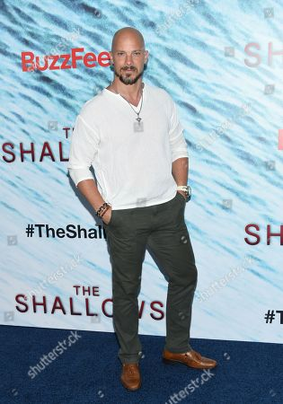 "Berto Colon attends the world premiere of ""The Shallows"" at AMC Loews Lincoln Square, in New York"