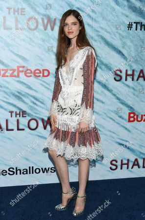 """Actress Sedona Legge attends the world premiere of """"The Shallows"""" at AMC Loews Lincoln Square, in New York"""