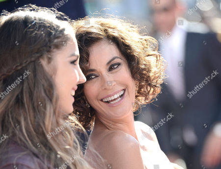 """From left to right, actress Teri Hatcher and daughter Emerson Tenney arrive on the red carpet of the world premiere of Disney's """"Planes"""" at the El Capitan Theatre on Monday, August, 5, 2013 in Los Angeles"""