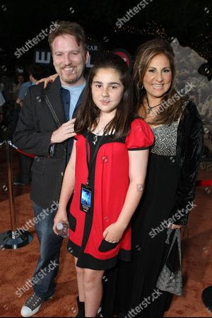 JUNE 21: Dan Finnerty, Samia Najimy Finnerty and Kathy Najimy at the World Premiere of Disney-Pixar's 'WALL-E' on at the Greek Theatre in Los Angeles, CA