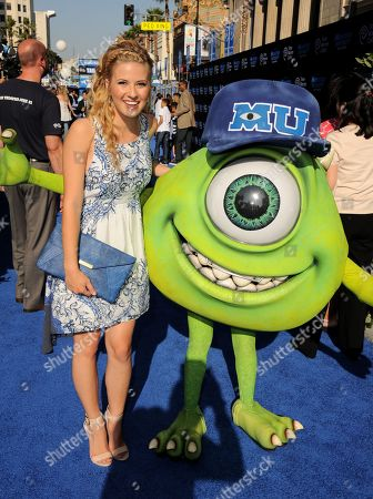 """Caroline Sunshine arrives at the world premiere of """"Monsters University"""" at the El Capitan Theatre, in Los Angeles"""
