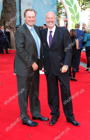 Guy East and Simon Oakes arrive at the world premiere of Rush at the Odeon Leicester Square in London on