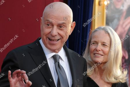 """Actor Alan Arkin, left, and his wife, Suzanne Newlander Arkin arrive at the world premiere of the feature film """"The Incredible Burt Wonderstone"""" at the TCL Chinese Theatre on in Los Angeles"""