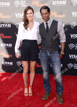 """Actor Orlando Jones and Jacqueline Staph arrive at the world premiere of """"The Lone Ranger"""" at Disney California Adventure on in Anaheim, Calif"""
