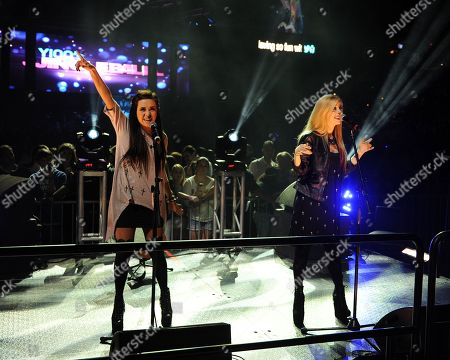 Stock Picture of Megan and Liz Mace appear during the Y100's Jingle Ball 2012 at the BB&T Center on in Ft Lauderdale, Florida