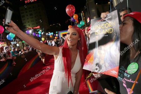 Natalie Eva Marie seen at YouTube star Lilly Singh debuts the World Premiere of 'A Trip to Unicorn Island' at TCL Chinese Theatre, in Hollywood, CA