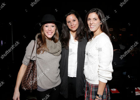 Stock Picture of Polly Hobson, from left, Michelle Savage, and Jessica Igoe are seen at THR Talks panel presented by The Hollywood Reporter and YouTube at Park City Live, in Park City, Utah