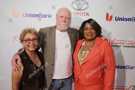 Heavenly Koh Wilson, Scott Wilson and YWCA Greater Los Angeles President & CEO - Faye Washington seen at YWCA Greater Los Angeles Phenomenal Woman of the Year Award at the Omni Los Angeles Hotel, in Los Angeles, CA