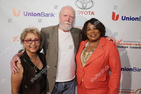 Stock Photo of Heavenly Koh Wilson, Scott Wilson and YWCA Greater Los Angeles President & CEO - Faye Washington seen at YWCA Greater Los Angeles Phenomenal Woman of the Year Award at the Omni Los Angeles Hotel, in Los Angeles, CA