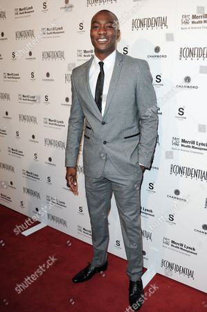BJ Britt arrives at Los Angeles Confidential's 10th Anniversary event at SupperClub, in Los Angeles