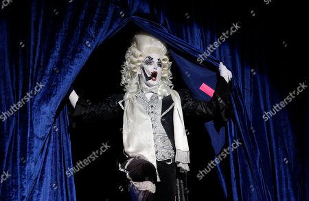 "Prince Poppycock performs onstage at ""Burlesque: Strip Strip Hooray!"" Starring Dita Von Teese on in Los Angeles"