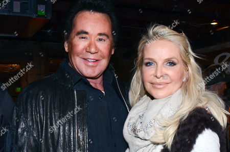 "Wayne Newton, left, and and Kathleen McCrone Newton seen at ""It's So Miami"" lounge,, in Park City, Utah"