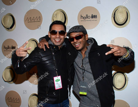 "Eloy Mendes and Carlos Moreno Jr. seen at ""It's So Miami"" Lounge, on in Park City, UT"