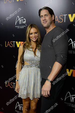 Stock Image of Actress Julie McGee and John Rocker arrive at the after party for a screening of CBS Films' 'Last Vegas' at Haze Nightclub at the ARIA Resort & Casino at CityCenter on in Las Vegas, Nevada