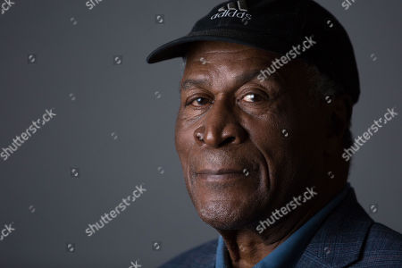 "John Amos poses for a portrait in promotion of the upcoming release of ""Roots: The Complete Original Series"" on Blu-ray, in New York"