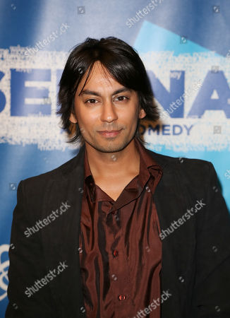 "Actor Vik Sahay poses during the arrivals for the opening night performance of ""Seminar"" at the Center Theatre Group/Ahmanson Theatre on 17, in Los Angeles, Calif"