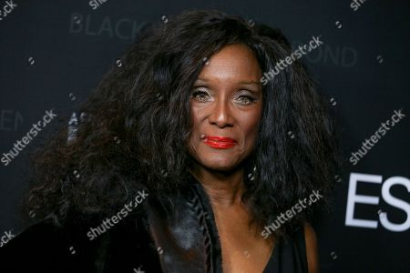 """Trina Parks arrives at """"Spectre"""" - The Black Women Of Bond Tribute at the California African American Museum, in Los Angeles"""