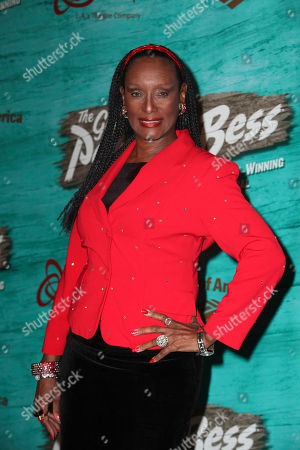 """Actress Trina Parks poses during the arrivals for the opening night performance of """"The Gershwins' Porgy and Bess"""" at the Center Theatre Group/Ahmanson Theatre, in Los Angeles, Calif"""