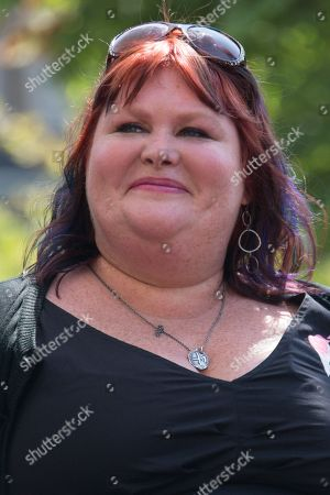 """Novelist Cassandra Clare attends the """"The Mortal Instruments: City of Bones"""" meet and greet at The Americana on in Glendale, Calif"""