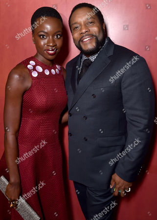 """Danai Gurira, left, and Chad Coleman are seen at """"The Walking Dead"""" ATAS FYC event at the Egyptian Theater on in Los Angeles"""