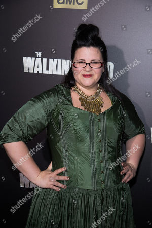 "Stock Photo of Ann Mahoney attends AMC's ""The Walking Dead"" season six premiere fan event at Madison Square Garden, in New York"