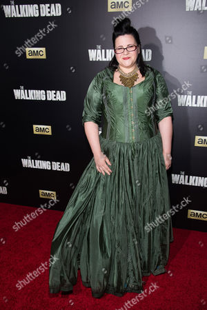 "Stock Image of Ann Mahoney attends AMC's ""The Walking Dead"" season six premiere fan event at Madison Square Garden, in New York"