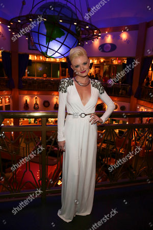 """Cast member Ruby Lewis poses during the party for the opening night performance of Queen and Ben Elton's """"We Will Rock You"""" at the Center Theatre Group/Ahmanson Theatre, in Los Angeles, Calif"""
