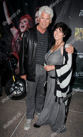 """From left, actor Barry Bostwick and Sherri Jensen arrive for the opening night performance of Queen and Ben Elton's """"We Will Rock You"""" at the Center Theatre Group/Ahmanson Theatre, in Los Angeles, Calif"""