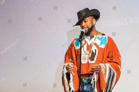Stock Image of B. Slade performs on stage during the Black Aids Institute's 16th Annual Heroes in the Struggle Gala held at the Directors Guild of America, in Los Angeles