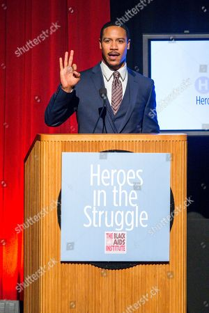Brian J. White speaks on stage during the Black Aids Institute's 16th Annual Heroes in the Struggle Gala held at the Directors Guild of America, in Los Angeles