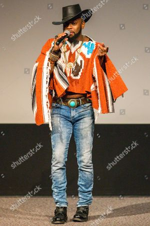 Stock Picture of B. Slade performs on stage during the Black Aids Institute's 16th Annual Heroes in the Struggle Gala held at the Directors Guild of America, in Los Angeles