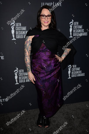 Julie Vogel arrives at the 16th Costume Designer Guild Awards,, in Beverly Hills, Calif