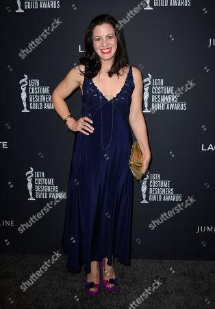 Jacqueline Mazarella arrives at the 16th Costume Designer Guild Awards,, in Beverly Hills, Calif