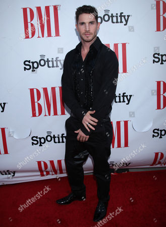 Blake McGrath arrives at the BMI Urban Awards honoring Mariah Carey held at the Saban theatre, in Beverly Hills, Calif