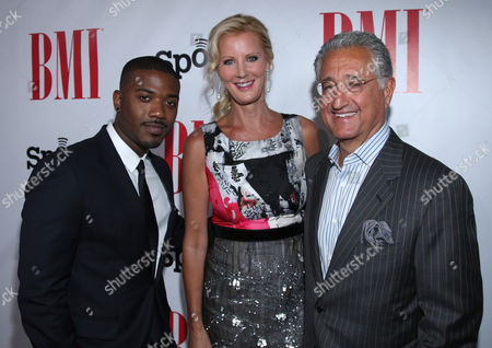 Ray J, Sandra Lee and Del Bryant, BMI President & CEO arrive at the BMI Urban Awards honoring Mariah Carey held at the Saban theatre, in Beverly Hills, Calif
