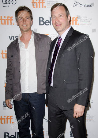 "Actor Edward Norton and filmmaker Stuart Blumberg attends the ""Thanks For Sharing"" premiere during the Toronto International Film Festival, in Toronto"
